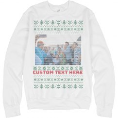 Custom Family Photo Knit Style Sweater
