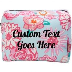 Custom Script Makeup Bag