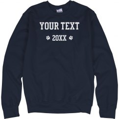 Custom Text Paw Print Sweater