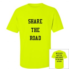 Share the Road - Bicyclists Rights - Unisex Tee