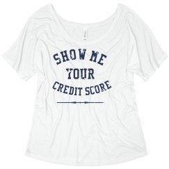 Credit score tee