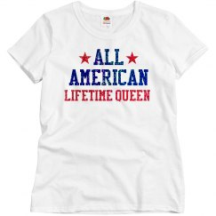 Appearance All American Lifetime Queen