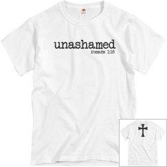 Unashamed Romans 1:16 shirt