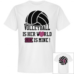 Volleyball is her world