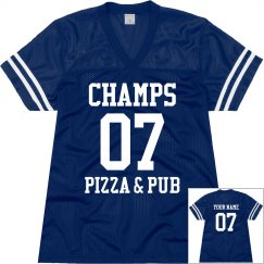 Champs 5 - Blue & White