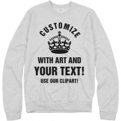 Personalized Pullover Sweatshirt