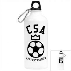 Soccer Themed Water Bottle