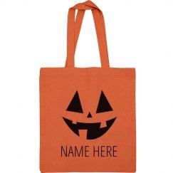 Trick Or Treat Tote Bag Custom Name