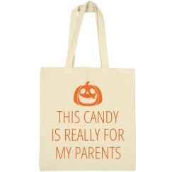 Funny Trick Or Treat Bag Pumpkin