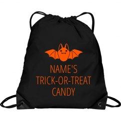 Custom Name Trick Or Treat Bag