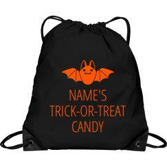 Custom Name Trick Or Treat Bag