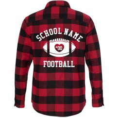 Trendy Plaid Football Fan