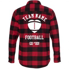 Trendy Football Girlfriend Plaid