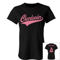 Custom Cheer for a Cure Pink Out Cheerleader Tee