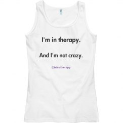I'm in therapy WOMENS BASIC TANK