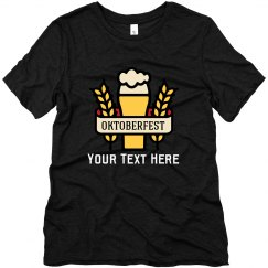 Custom Oktoberfest Beer Glass Tee