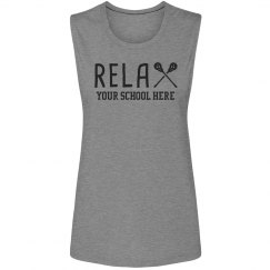 Relax It's Lacrosse Season Custom Tank