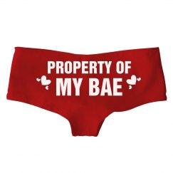Property Of My Bae V-Day Undies