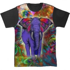 Abstract ELEPHANT with Butterfly Ears Galaxy