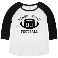 Custom School/Player Number Football