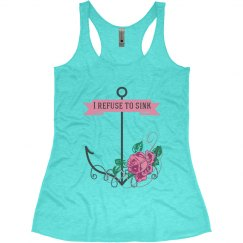 I Refuse To Sink - Anchor Tank - Aqua