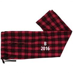B fashion Flannel Christmas Pajamas