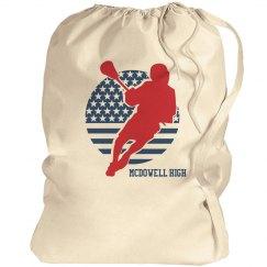 High School Lacrosse Customizable Laundry Bag