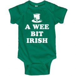 Wee Bit Irish Cute Baby Bodysuits