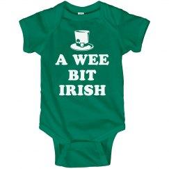 Wee Bit Irish Cute Baby Bodysuits