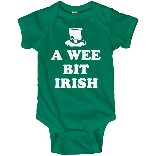 61ca1d6b5 Wee Bit Irish Cute Baby Bodysuits Infant Fine Jersey Bodysuit
