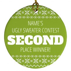 Ugly Sweater Trophy 2nd Place