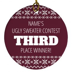 Ugly Sweater Trophy 3rd Place