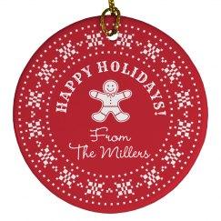 Custom Holiday Ornament Gift