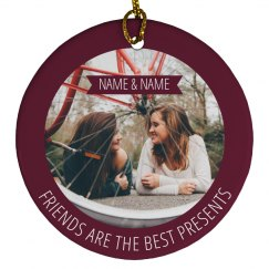 Best Friend Photo Gift Ornaments