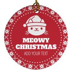 Meowy Christmas Ugly Ornament