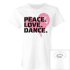 peace love dance tee