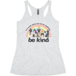 Be Kind Women Tanktop dark letter