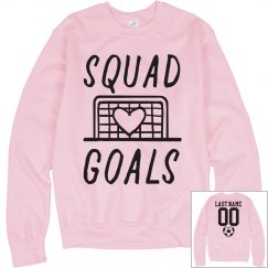 Soccer Squad Goals Custom Name