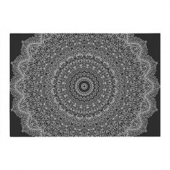 Black & White Mandala Area Rug