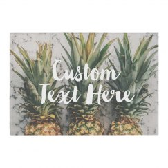 Custom Text Pineapple Home Decor