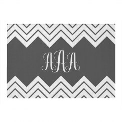 Custom Monogram Chevron Rug