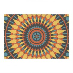 Colorful Boho Mandala Pattern Rug