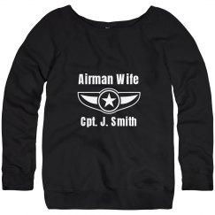 Airman Wife Badge Sweater