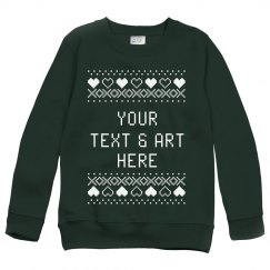 Custom Text & Art Ugly Sweater Xmas