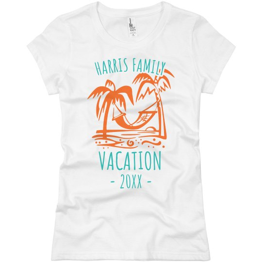 5dcf3edd2 Family Vacation Tee Ladies Slim Fit Basic Promo Jersey T-Shirt