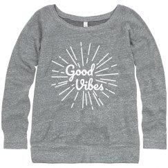Good Vibes Spring Sweatshirt