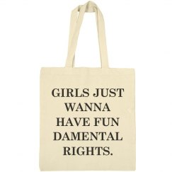 Girls Fundamental Rights Gift Tote