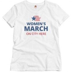 Women's March On Custom City