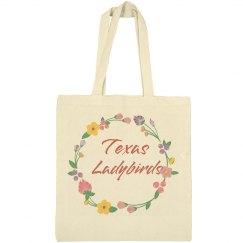 Ladybirds flower bag