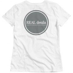 REAL Doula Ladies TShirt - Blue